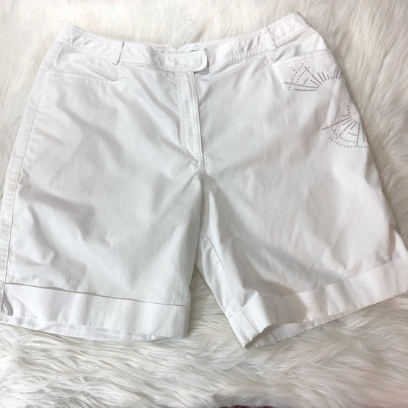 Nike Golf Fit Dry Womens White Shorts Size 14